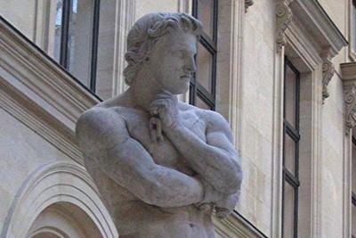 Спартак, французская скульптура. Лувр, 1830