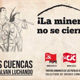 Плакат компартии Испании: Угольные бассейны сохранит только борьба!