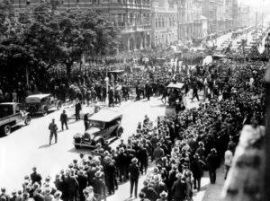 Марш безработных. США. 1931 год.