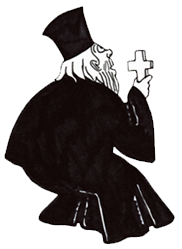 Поп, батюшка молится богу
