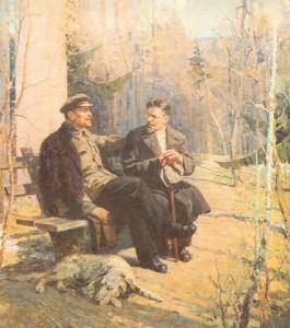 Саханов. М.И. Калинин в гостях у В.И. Ленина.