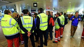 грузчики брюссельского аэропорта продолжают бастовать