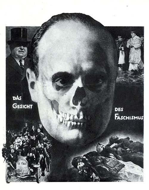 """Das Gesicht des Faschismus 1928   """"Лицо фашизма"""" Обложка журнала, """"Италия в цепях"""", изданного Коммунистической партии Германии В первом выпуске был комментарий: """"Я собираюсь изменить в течение ближайших 15 лет лицо Италии, так что никто не признает Муссолини"""""""
