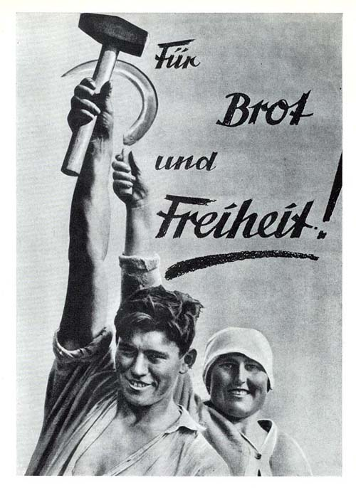 """Fur Brot und Freiheit! 1930   """"За хлеб и свободу!""""   Обложка спецвыпуска """"Рабочей иллюстрированной газеты""""."""