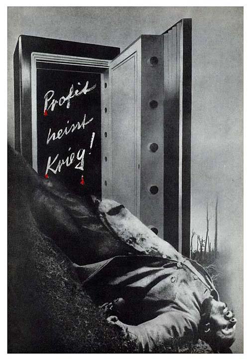 """Profit heisst Krieg! 1927   """"Прибыль означает войну!"""" Обложка брошюры """"13 лет убийств"""""""