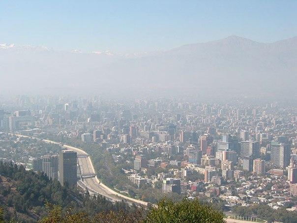 Смог над Сантьяго, Чили. Фото: Александр Чайкин