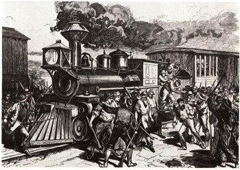 1894 г. Столкновение рабочих со штрейкбрехерами