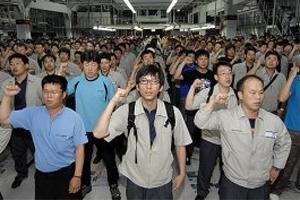 Ежедневные одночасовые забастовки парализовали GM в Корее