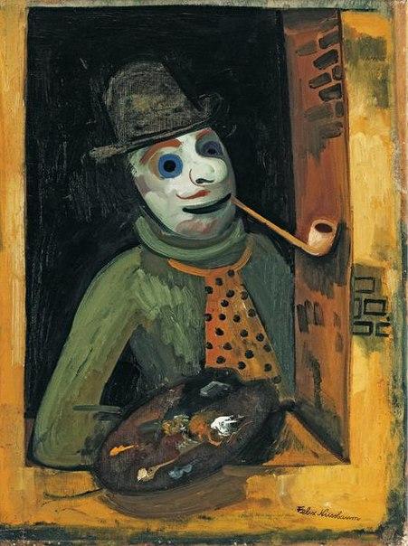 Художник в маске, 1935