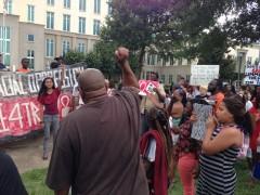 Одна из многих акций протеста с требованием справедливости для Трэйвона Мартина