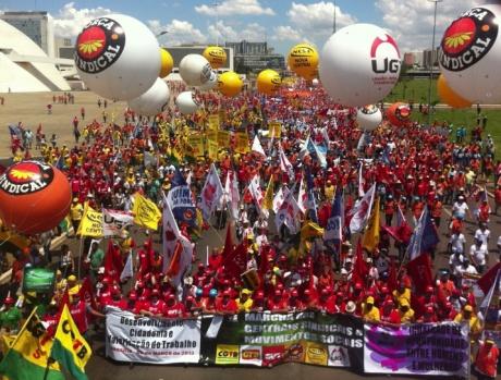 Рабочий класс Бразилии проводит Национальный день борьбы