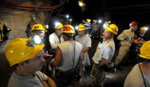 Some 100 Sardinian miners have barricaded themselves nearly 400 meters underground