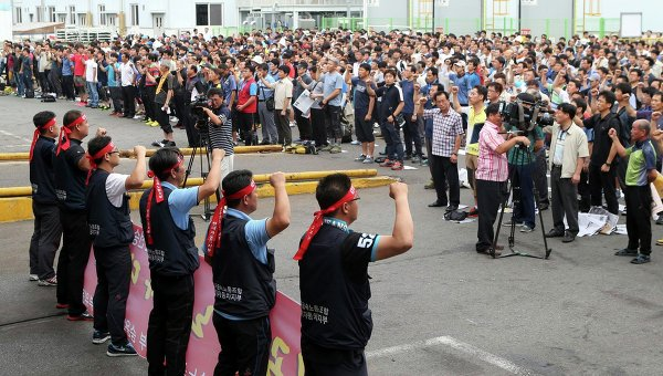 Компания Hyundai Motor оценила свой ущерб от забастовки рабочих