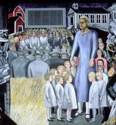 Американский эпос. Англоамерканцы. Фреска. 1932-34