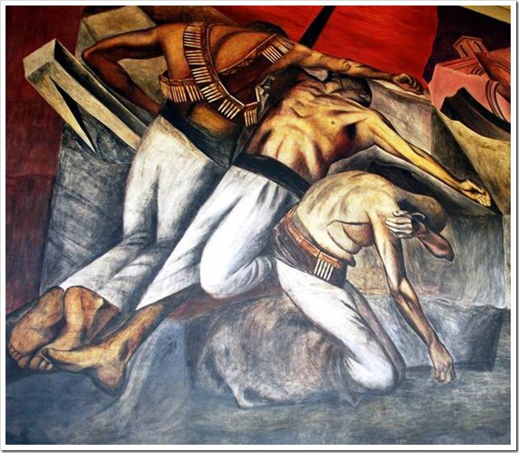 Окоп. Фреска в Национальной подготовительной школе в Мехико. Фрагмент.