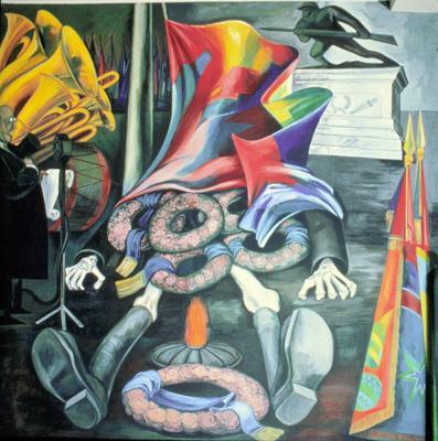 Американский эпос. Современная человеческая жертва. Фреска. 1932-34