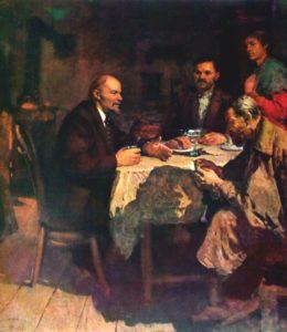 М. Кривенко. В.И.Ленин в рабочей семье