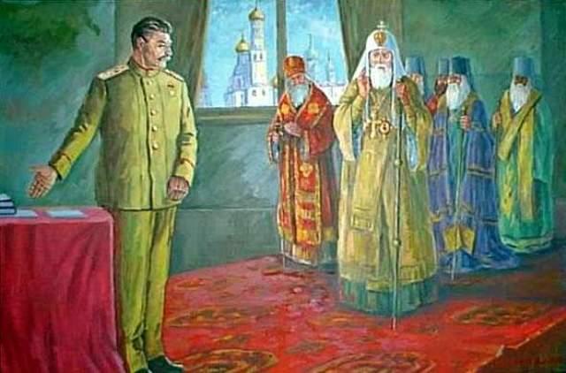 сталин и попы