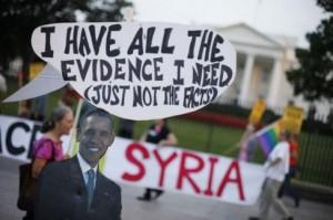 Протесты против военного вмешательства в Сирию