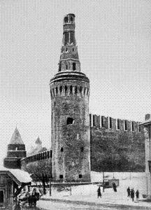 Беклемишевская башня Кремля со сбитым верхом