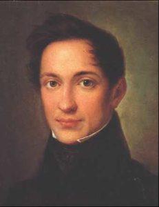 А. И. Герцен. Портрет работы А. Збруева. 1830-е гг.
