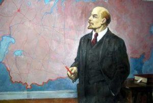 Ленин у карты