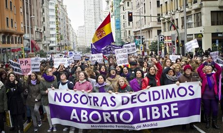 abortion demo spain