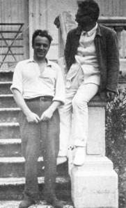 1933 г.,Франция.Л.Д. Троцкий с сыном Львом Седовым в Сен-Пале