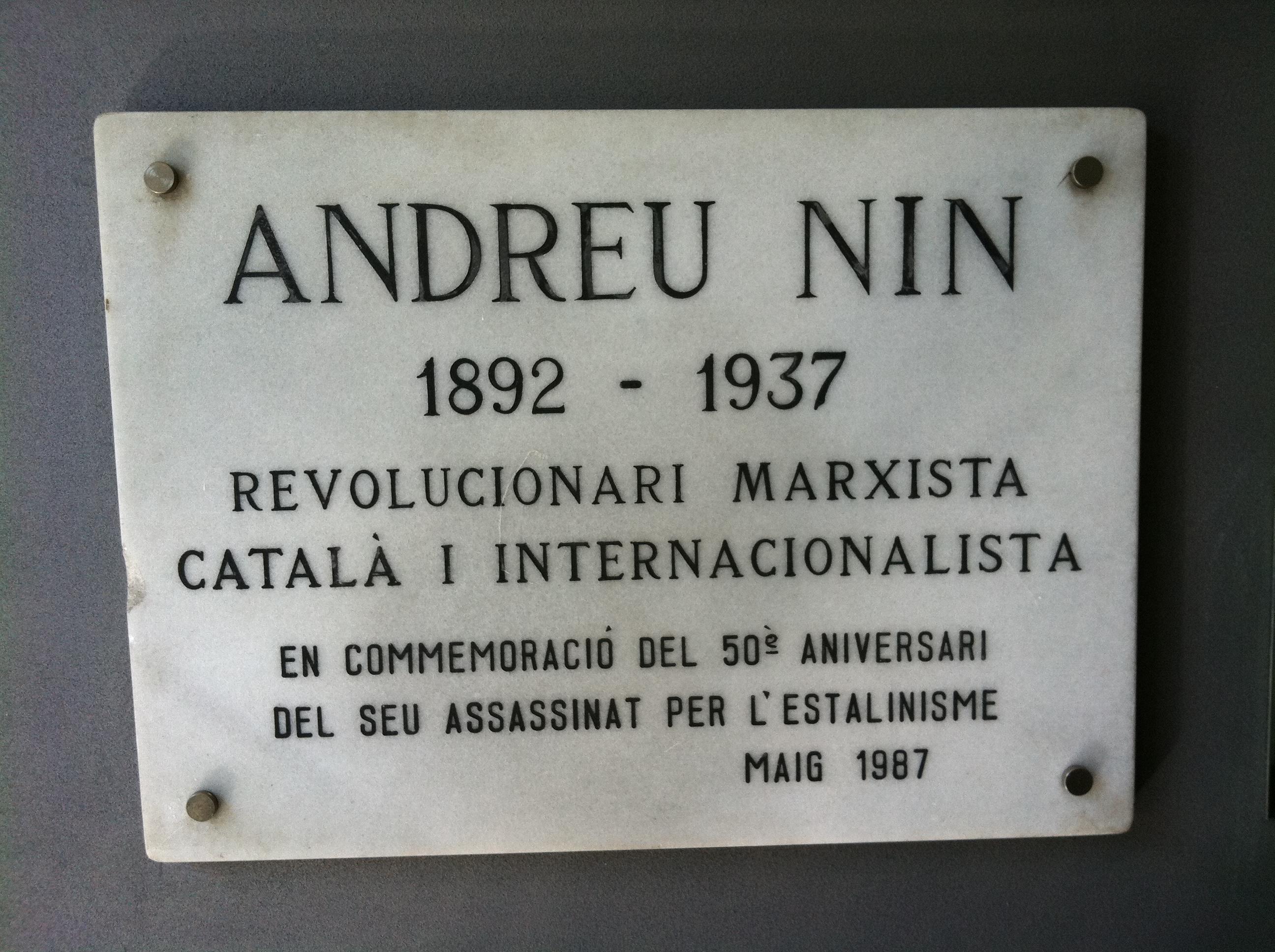 Андреу Нин плита