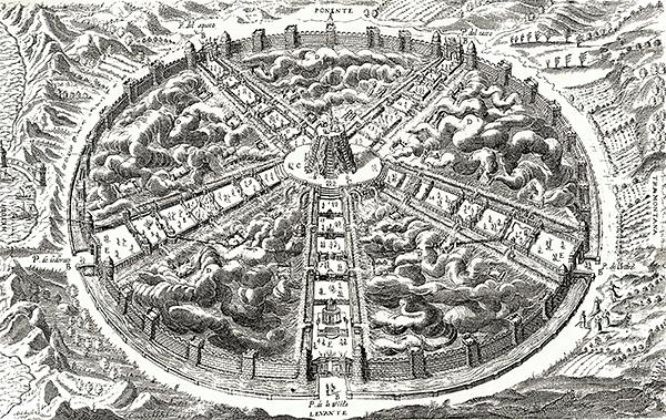 """""""Город солнца"""" Томмазо Кампанеллы. Работа была написана на итальянском языке в 1602 году, латинская версия написана в 1613—1614 и издана во Франкфурте в 1623 году и является рассказом путешественника о посещённой им стране-утопии. Книга «Город Солнца» написана через сто лет после «Утопии» (1516 год) Томаса Мора, в один год с «Новой Атлантидой» Френсиса Бэкона."""