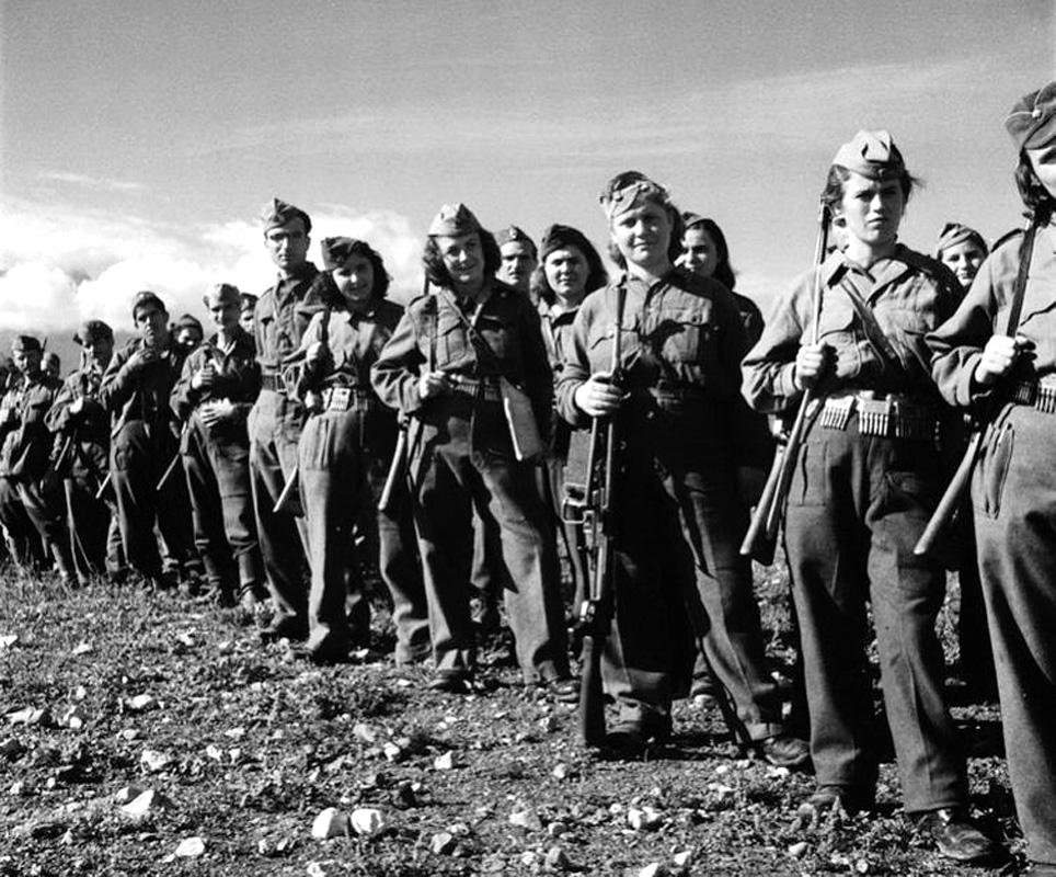 Греческие партизаны из ЭЛАС