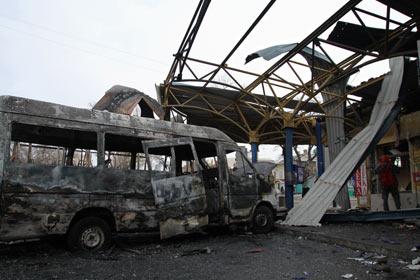 Донецк остановка 11.02.2015