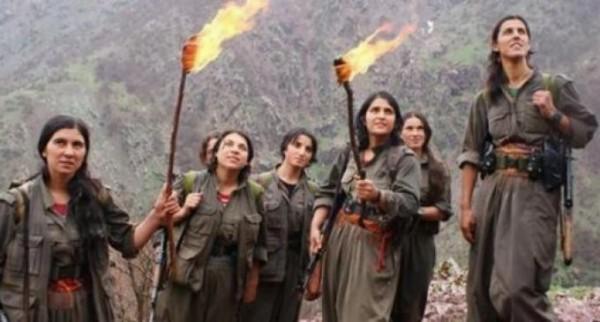 Женщины-партизанки Курдистан о семье