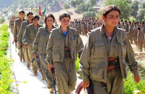 Женщины-партизанки Курдистан отряд