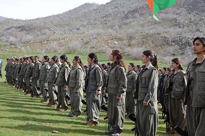 Женщины-партизанки Курдистан строй