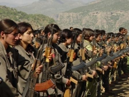 Женщины-партизанки Курдистан вооружение