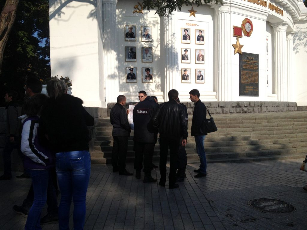 Пикет в Севастополе 4 ноября 2015 5