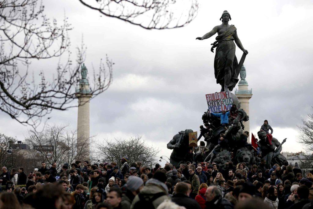 Франция 9 марта 2016 демонстрация