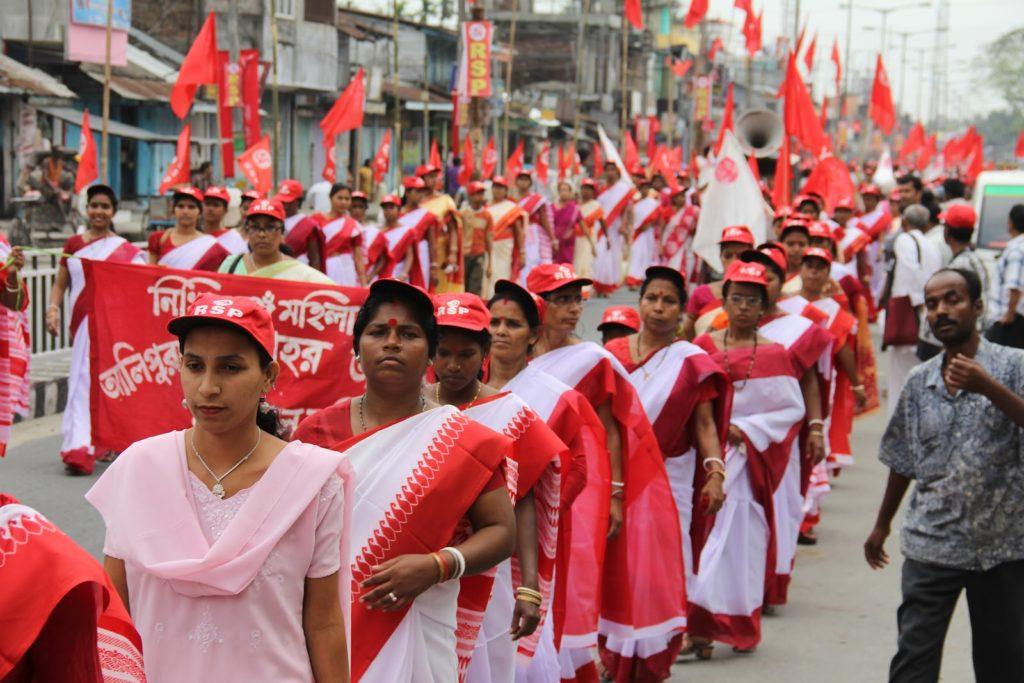 Индия. Митинг женского крыла Революционной социалистической партии